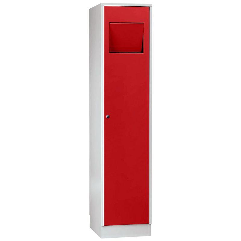 Certeo - Wolf Armoire à linge - avec trappe à fermeture automatique - rouge feu RAL 3000 - Coloris des portes: rouge feu RAL 3000