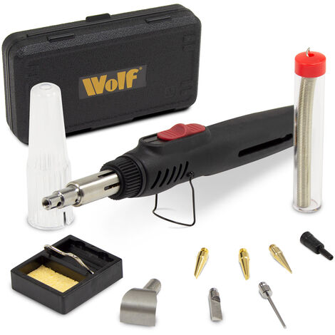 Wolf Cordless 6 in 1 Butane Gas Soldering Torch Kit