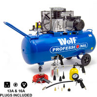 Wolf Dakota 150L Air Compressor & 13pc Air Tool Kit