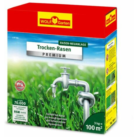 Trockenrasen Rasen Neuanlage L-TP 100   3kg   für 100 m²