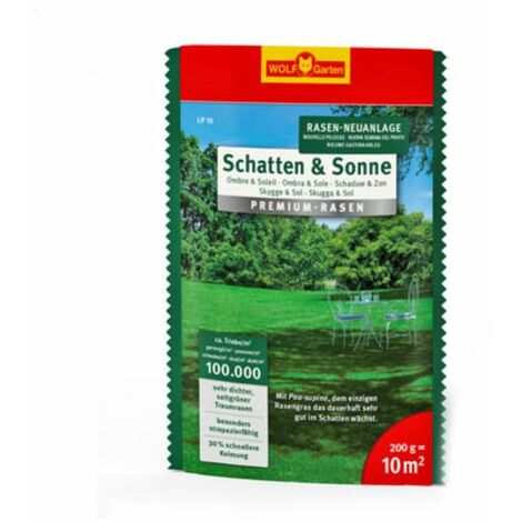"""Wolf-Garten Saatgut """"Schatten & Sonne"""" Premium-Rasen - Sehr gute Schatten- & Sonnenverträglichkeit"""