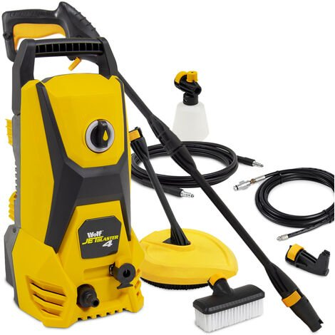 Wolf Jet Blaster 4 Pressure Washer with Angled Nozzle, Patio Cleaner & 10m Drain Cleaner