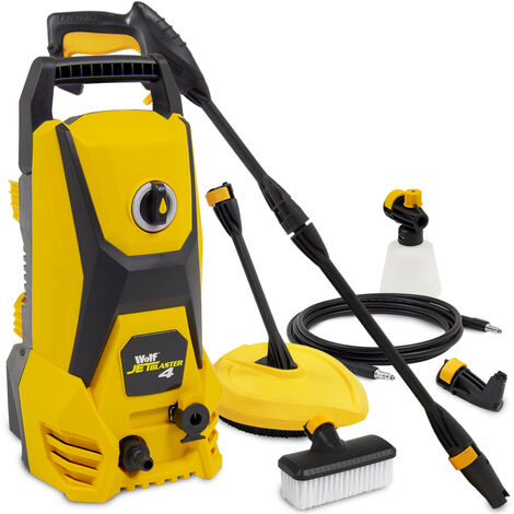 Wolf Jet Blaster 4 Pressure Washer with Angled Nozzle & Patio Cleaner