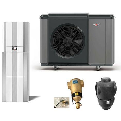 WOLF Luft/Wasser-Wärmepumpen-Center-Paket CHC-Monoblock 07/200-35 mit Bedienmodul und Zubehör - 9146838W01