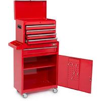 Wolf Master Tool Storage Set - 4 Drawer Tool Box and Cabinet