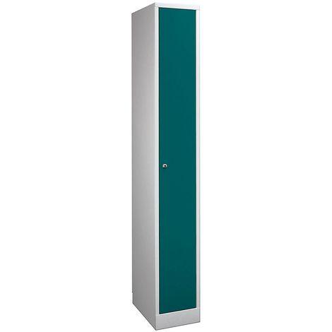 Wolf Penderie dimensions confort - 1 compartiment, largeur compartiment 400 mm - gris clair / vert opale