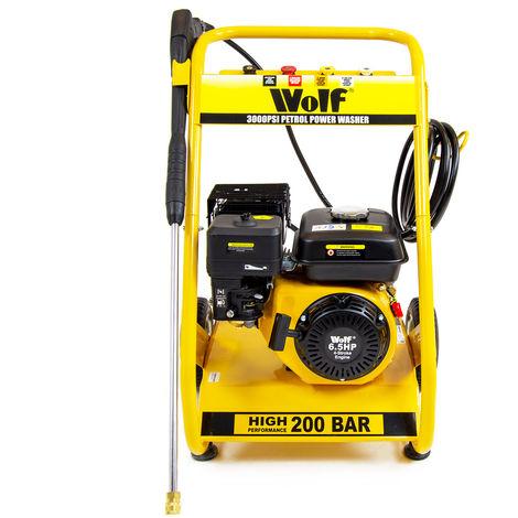 Wolf Petrol Pressure Washer, 200 BAR 6.5HP 3000psi