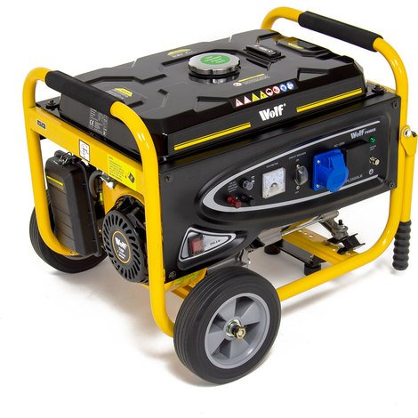 Wolf Power 4.0KVA Heavy Duty Petrol Powered Generator With Wheel Kit