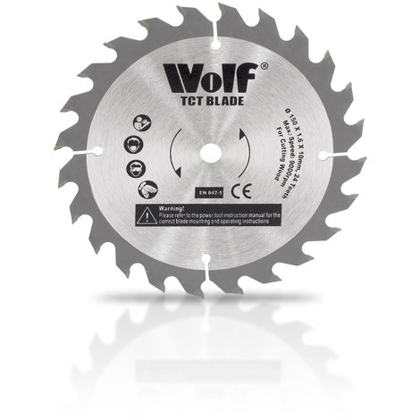 Wolf Professional 150mm 24T TCT Spare Circular Saw Blade