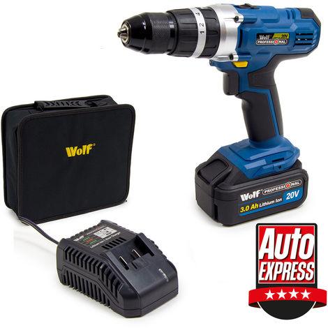 Wolf Professional 20v Li-Ion Combi Drill