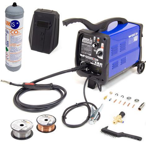 Wolf Professional Gas / No Gas MIG 140T Welder & Kit