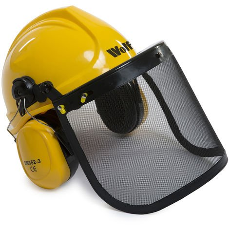 Wolf Safety Hard Helmet with Ear Guard and Visor