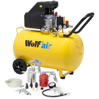 Wolf Sioux 100 Air Compressor 116psi 9.1cfm W/ 13pc Air Tool Kit