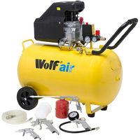 Wolf Sioux 100L Air Compressor 116psi 9.1cfm W/ 5pc Air Tool Kit