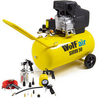 Wolf Sioux 50 Air Compressor & 13pc Spray Kit