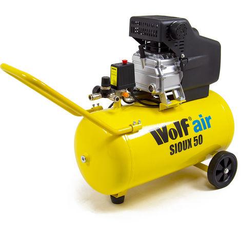 Wolf Sioux 50 Air Compressor MK2 2.5HP, 9.6CFM