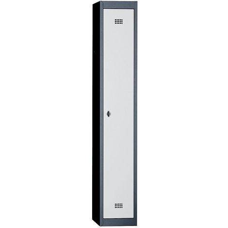 Wolf Vestiaire métallique démonté - 1 compartiment, hauteur 1700 mm, largeur 300 mm, 1 tablette supérieure, 1 tringle -