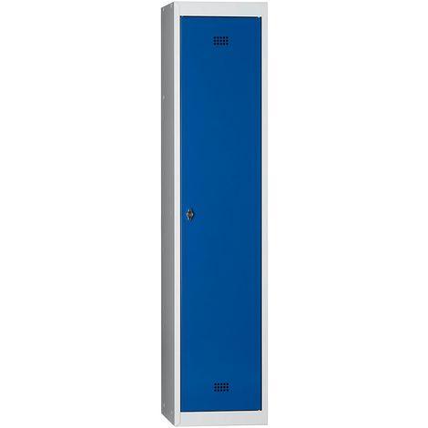 Wolf Vestiaire métallique démonté - 1 compartiment, hauteur 1700 mm, largeur 400 mm, 1 tablette supérieure, 1 tringle -