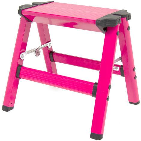 Wolf Vivid Pink Folding Step Stool