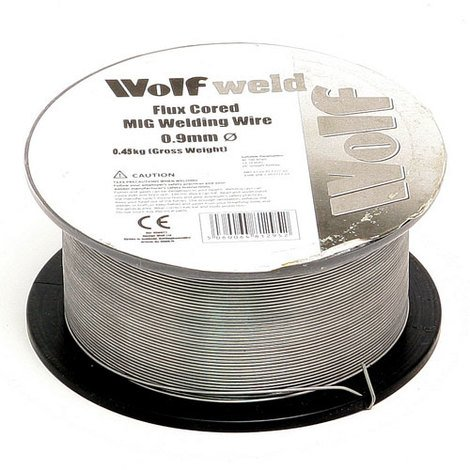 Flux Core Welding Wire >> Wolf Weld Flux Core Mig Welding Wire 0 9mm 0 25kg