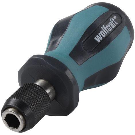 WOLFCRAFT 1239000 - Atornilladores manuales con portapuntas corto 90 mm
