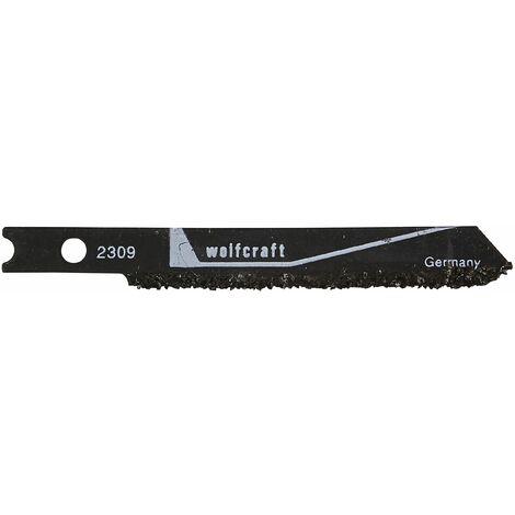 Wolfcraft 2309000 - 1 hoja de sierra de calar vástago en U / provista de metal duro / azulejos hasta 15mm de grosor / corte basto 51 mm