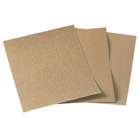 WOLFCRAFT 2852000 - Pliego papel de lija estandar grano 80 sueltos 230 x 280 mm