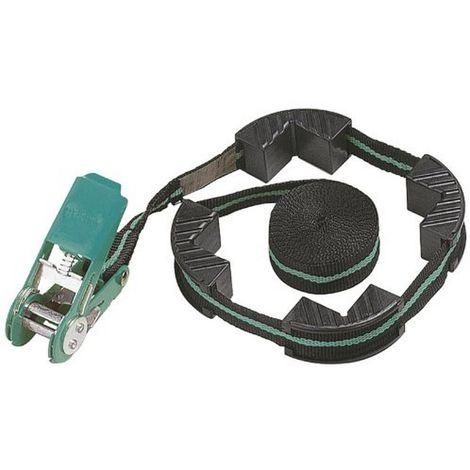 WOLFCRAFT 3441000 - Tensor de cinta con carraca con 4 mordazas ancho 25 mm (fuerza de sujecion 180 kg) 4 m mm