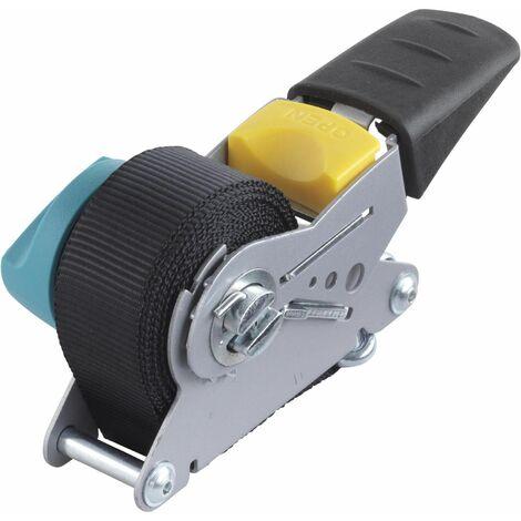 Wolfcraft 3683000 - 1 tensores de cinta de carraca, con mecanismo de rebobinado (fuerza de sujeción 100 kg) 4 m