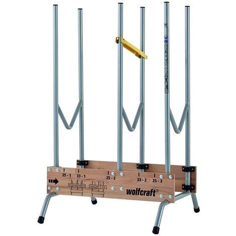 WOLFCRAFT 5121000 - Caballete para serrar corte rapido y seguro de lenos de 1 m 700 x 1120 x 675 mm