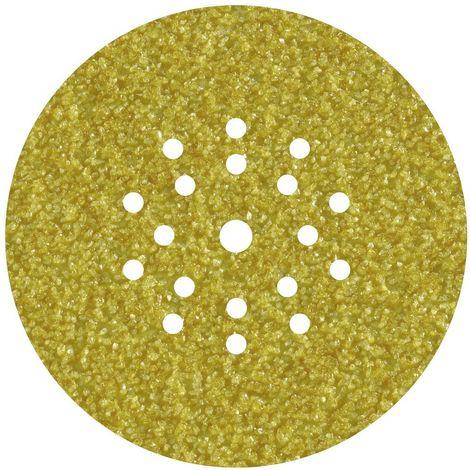 WOLFCRAFT 5632000 - Discos adhesivos de lijar grano 60 perforadas para lijadores de plafones y pared diam 225 mm