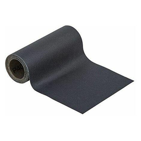Wolfcraft 58160003m x 115mm Rouleau de papier abrasif Grain 400humide/sec-Noir