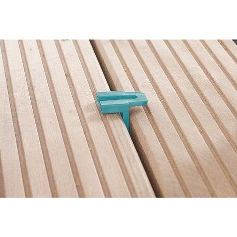 Wolfcraft 6986000 - 10 distanziatori per terrazzo in legno