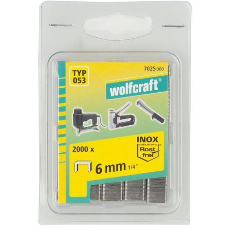 Wolfcraft 7025000graffette tipo 053acciaio inox, argento, 6mm