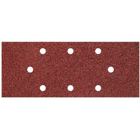 Wolfcraft 8409000 - 15 patines de lija de corindón, grano 40,80,120 perforadas 93 x 230 mm