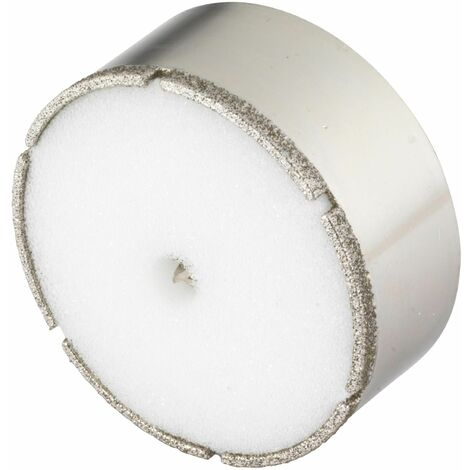 Wolfcraft 8911000 - 1 sierra de corona Diamant Ceramic con broca de centrado, vástago 10 mm, Ø 68 mm