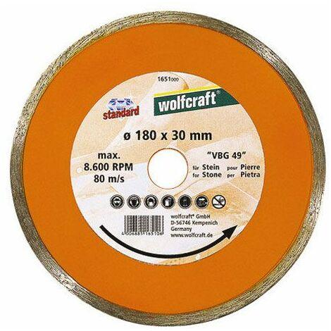 Wolfcraft Disque diamant à jante continue, spécial carrelette 180x30/25,4 mm