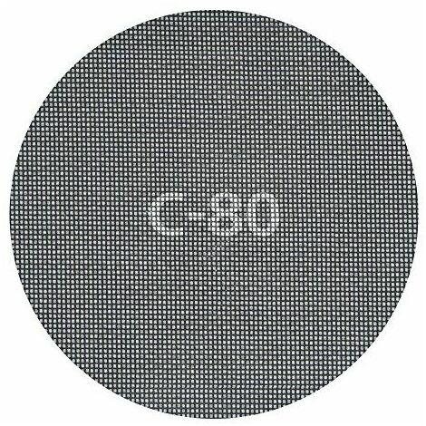 Wolfcraft haft Grille de lin Diamètre 225mm, grain 80, carbure de silicium, Lot de 5, 5617000
