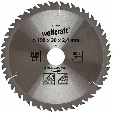 Wolfcraft Lame de scie circulaire, 190 x 30 x 30
