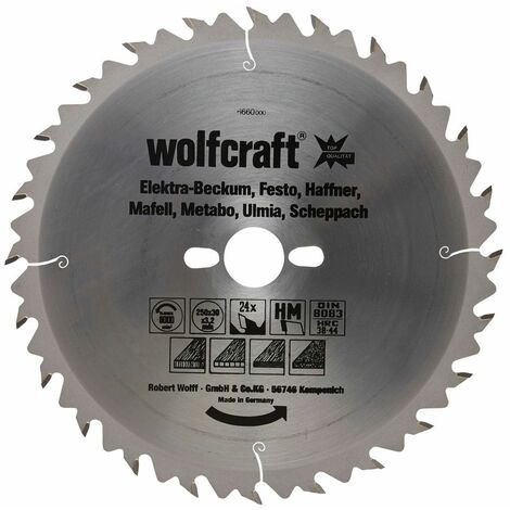Wolfcraft Lame de scie circulaire CT, 24 dents