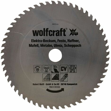Wolfcraft Lame de scie circulaire CV, 56 dents