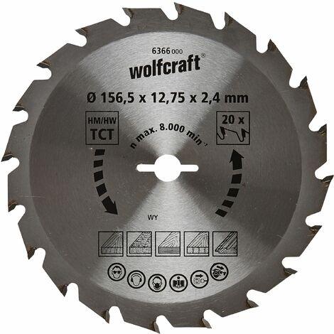 Wolfcraft Lames de scies circulaires manuelles Série vert (coupes semi-fines rapides) - 6366000