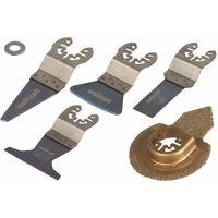 Wolfcraft Six Piece Oscillating Multi-Tool Accessory Set PRO 3962000