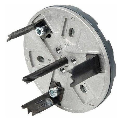 Wolfcraft Trépan réglable pour installations électriques ø 35, 65, 68, 74, 76, 83 mm - 5983000