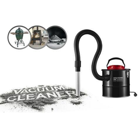 WOLFGANG Aspiradora de cenizas eléctrica 10 L, Aspiradora con filtro HEPA, Sopladora con tubo de aspiración flexible 2 m, Limpieza de chimenea y estufa, 800W