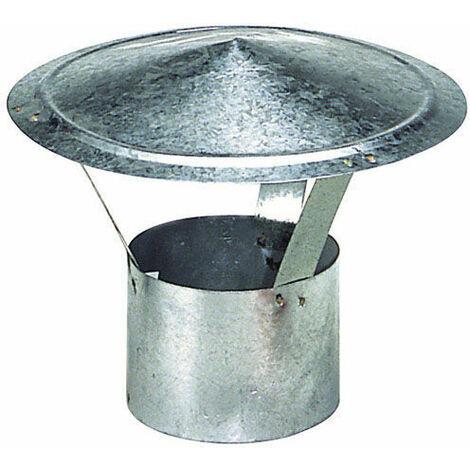 Wolfpack Sombrero Galvanizado para Estufa, Chimenea, Extracción de Humos, Para tubo Ø 200 mm.
