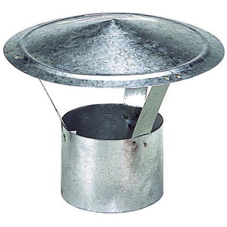 Wolfpack Sombrero Galvanizado para Estufa, Chimenea, Extracción de Humos, Para tubo Ø 250 mm.