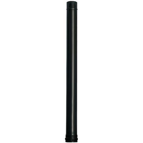 Wolfpack Tubo de Estufa Pellet Acero Vitrificado Negro Ø 80 mm. Longitud 100 cm. Estufas de Leña, Chimenea, Alta resistencia,