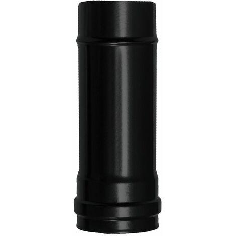Wolfpack Tubo de Estufa Pellet Acero Vitrificado Negro Ø 80 mm. Longitud 25 cm. Estufas de Leña, Chimenea, Alta resistencia,