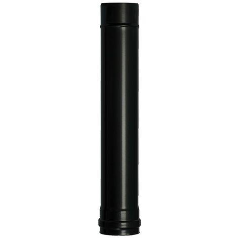 Wolfpack Tubo de Estufa Pellet Acero Vitrificado Negro Ø 80 mm. Longitud 50 cm. Estufas de Leña, Chimenea, Alta resistencia,